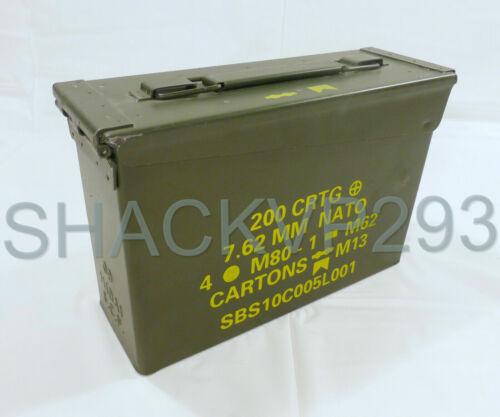30 Cal Ammo Can Army Military M19A1 Metal Storage Box 7.62 MM GRADED USGI