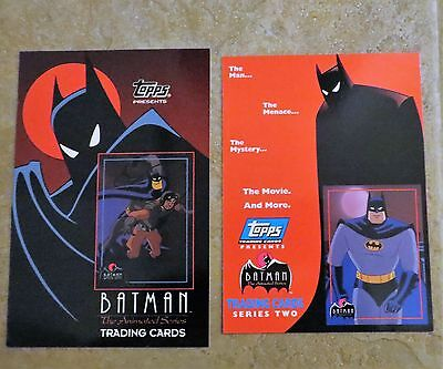 1992 LOT OF 2 BATMAN THE ANIMATED SERIES UNCUT PROTOTYPE CARD  PROMO