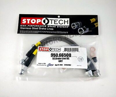 STOPTECH STAINLESS STEEL REAR BRAKE LINES FOR 02 06 CADILLAC ESCALADE ALL TRIMS