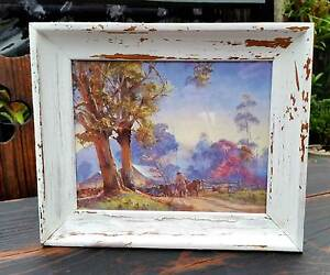 Darcy W. Doyle Morning Milking Print in Shabby Chic Frame Lithgow Lithgow Area Preview