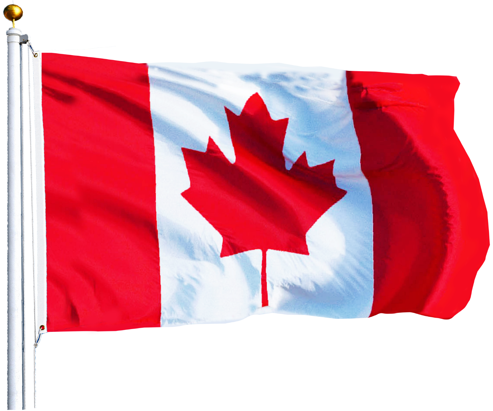 Canadian Flag 3 x 5 ft Polyester Canada Maple Leaf Banner In