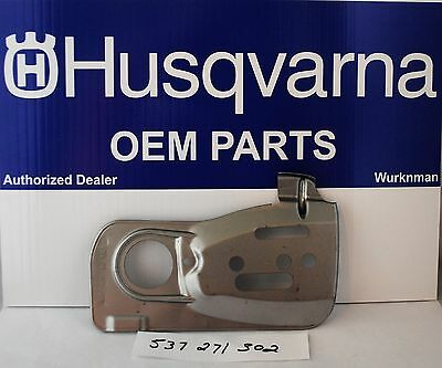 NEW OEM HUSQVARNA 537271302  CHAIN GUIDE PLATE FITS 455 460 461  -