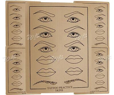 Tatto Skin Fake For Practice Lip Eyebrow Mouth Tatooing Skin Soft Kit 5pcs - Skin Fake