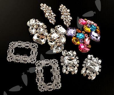 Crystal Rhinestone Shoe Clips Bridal Wedding Party Shoe Accessory Multi Design ()