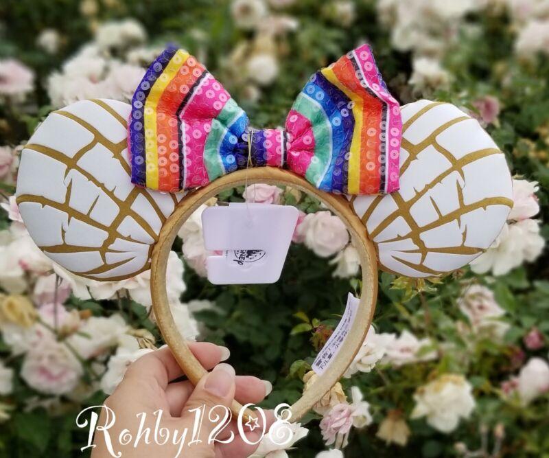 Disney Parks Mexican Concha Sweet Bread Pan Dulce Minnie Mouse Ears Headband