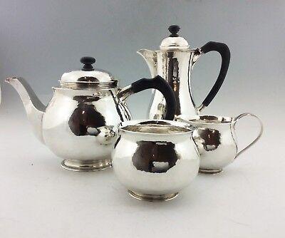 ARTS & CRAFTS GUILD OF HANDICRAFT SOLID SILVER 4 PIECE TEA SET EXCELLENT