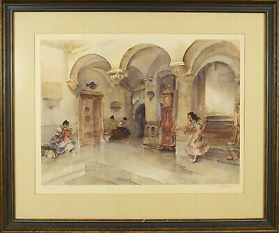 W.Russel Flint (British,1880-1969) Original Color Lithograph Print Signed