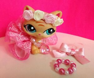 Lps Littlest Pet Shop 5 Accessories With Flower Crown , figure not included