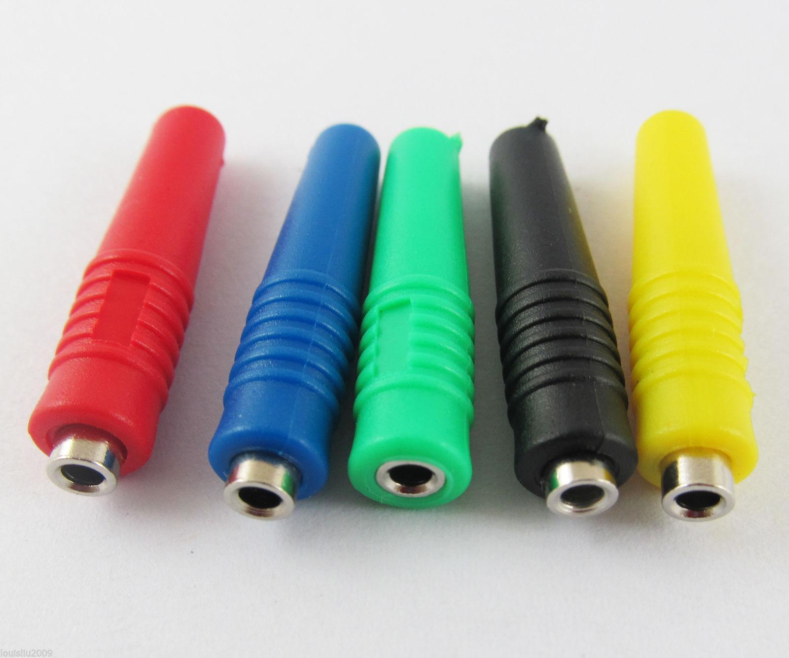 5pcs 2mm Copper Banana Jack Socket Solder Type Test Connector Adapter 5 color-US