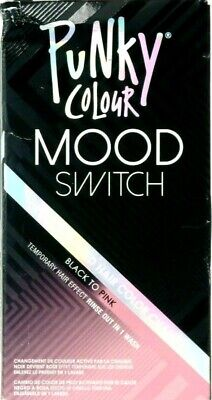 Punky Colour Mood Switch Heat Activated Hair Color Change: Black To Pink