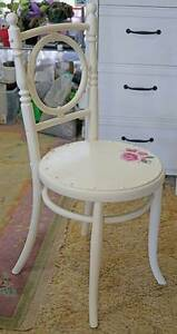 Shabby Chic Austrian Bentwood Chair with art work. Kallangur Pine Rivers Area Preview