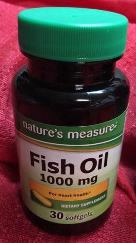 OMEGA 3 FISH OIL 1000mg 30 SOFTGEL GOOD HEART VITAMINS