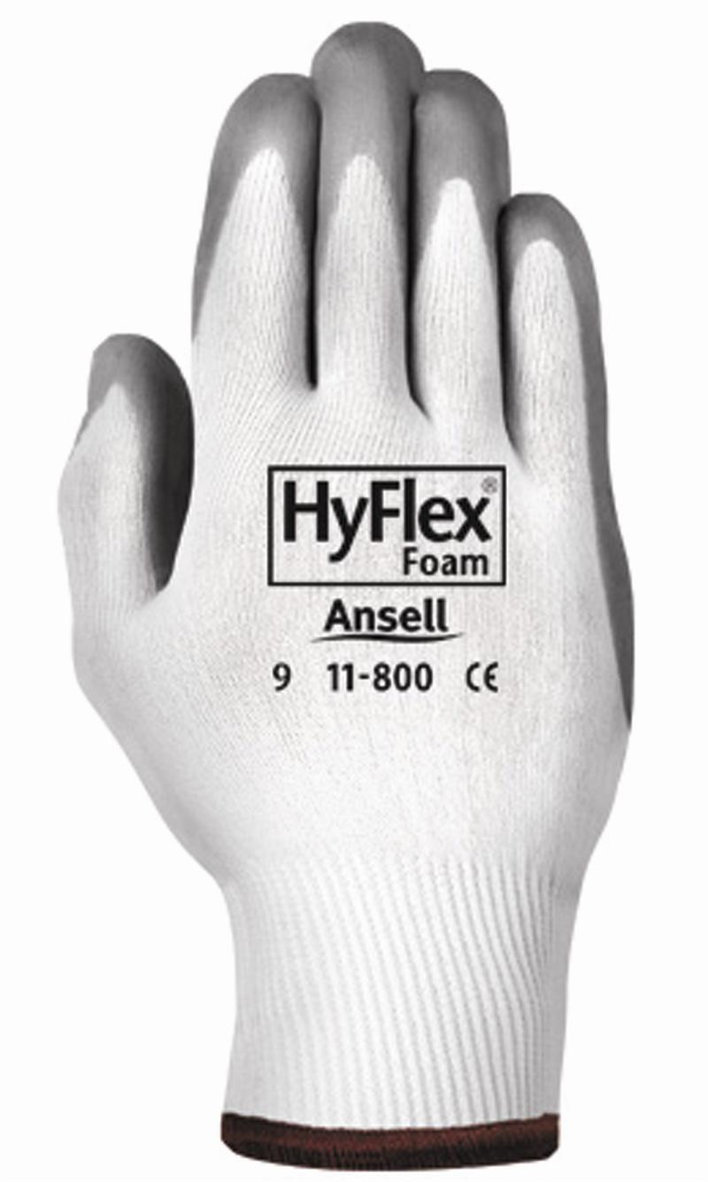 Ansell 11-800 Hyflex Nitrile Palm Coated Gloves Size Large – 9 – 12 Pair/1 Dozen Business & Industrial