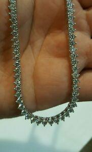 EPIPHANY PLATINUM CLAD DIAMONIQUE TENNIS NECKLACE 16