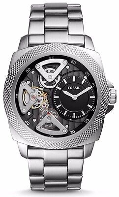New    Sale   Fossil Privateer Sport Automatic Silver Tone Men Watch Bq2209