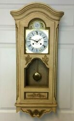 Vintage Paragon Tempus Fugit Wall Clock in French Provincial Style Case - Read!!