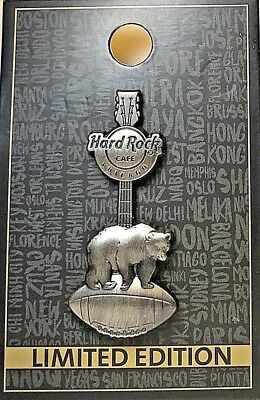 Hard Rock Cafe Chicago Pin 3D Football Bear Guitar 2018 HRC NFL LE NEW # 100580