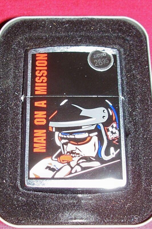 Zippo Dale Earnhardt Man on a Mission Cigarette Lighter Collector NASCAR Racing