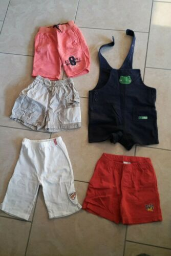 5x kurze Hosen Kinder Gr. 86 92 Sommer Short Sport Hose Kids Hosenträger Top!!