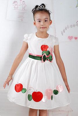 Blumen-mädchen-kleider In Pink (Neu Blumenmädchen Party Sommer Kleid in Pink,Weiß 18 M bis 5 Jahre)