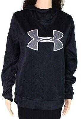 Under Armour Womens Hoodie Black Size Medium M Logo Graphic Pullover $60 125