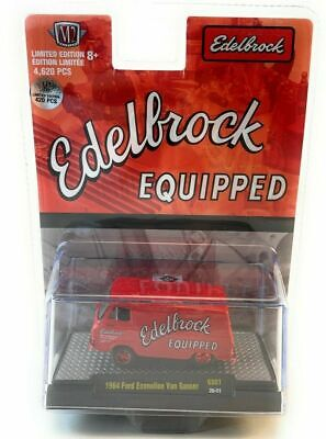 M2 MACHINES 31600 GS07 1964 FORD ECONOLINE VAN 1/64 GASSER EDELBROCK RED Chase