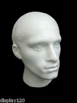 Männlich Weiß Polystyrene Mannequin Perücke Hut Mode Mannequin Kopf Ladenbau Weiße Perücke Männlich