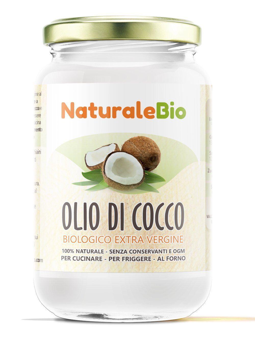Olio di Cocco 500 ml Puro Extra Vergine Biologico Organico Naturale 100%