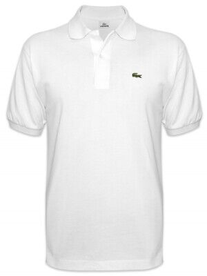 NWT LACOSTE Collared Short Sleeve White Polo Shirt Men's Size 7 (XL)