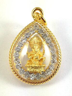 Ganesh Elephant Hindu God Thai Amulet Buddha Pendant jewelry 22K gold Diamond