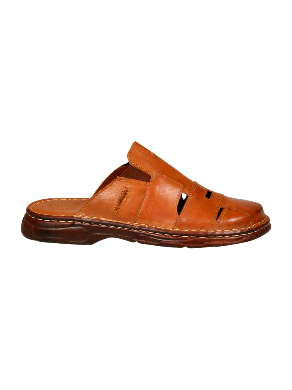 Men Comfy Orthopedic Natural Buffalo Leather Sandals Shoes UK Size 7 8 9 10 11