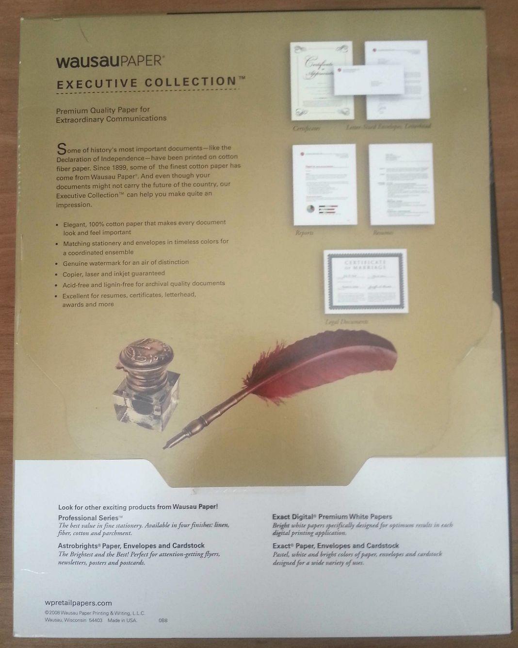 royal 100 cotton white resume stationery paper 8 5 x 11 28 100