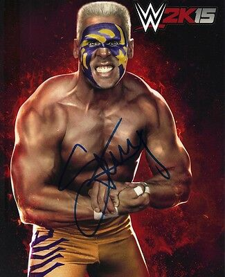 STING SIGNED 10X8 PHOTO AUTOGRAPH WWE 2K15 AFTAL COA (7105)
