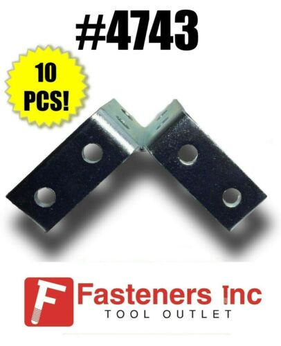 (QTY 10) 8-Hole Double Wing Corner Fitting Unistrut B-Line Channel #4743 P2225