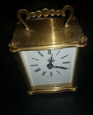 Smiths Vintage Carriage Mantle Clock  Kienzle Quartz