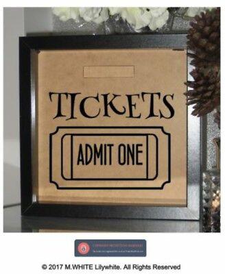 Ticket Kategorie: Spardose Aufkleber - Zugeben eine für Box Rahmen DIY Geld / ()