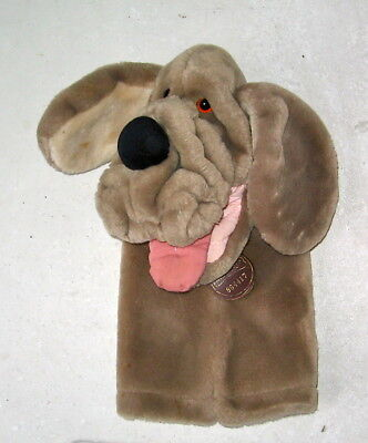 """BLOODHOUND HAND PUPPET """"WRINKLES"""""""