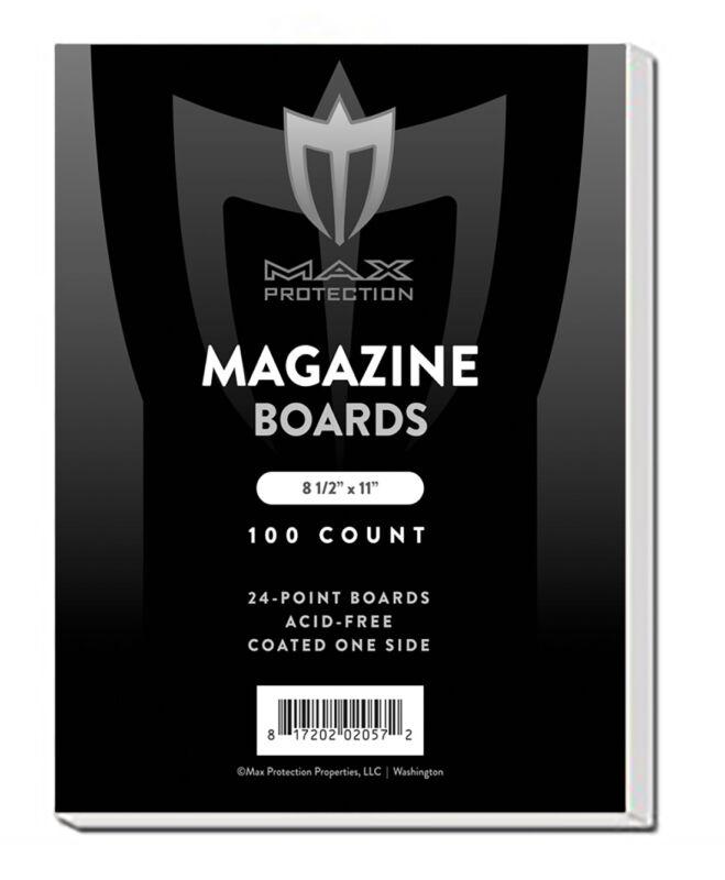 Case of 1000 Max Pro Acid Free Magazine Backing Boards white backers Archival