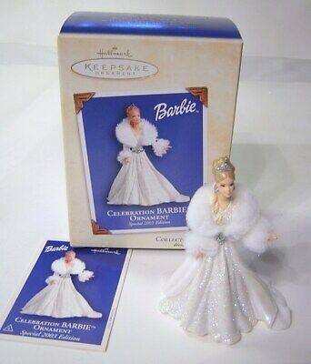 "Hallmark Keepsake 2003 Special Edition ""Celebration Barbie"" Christmas Ornament"