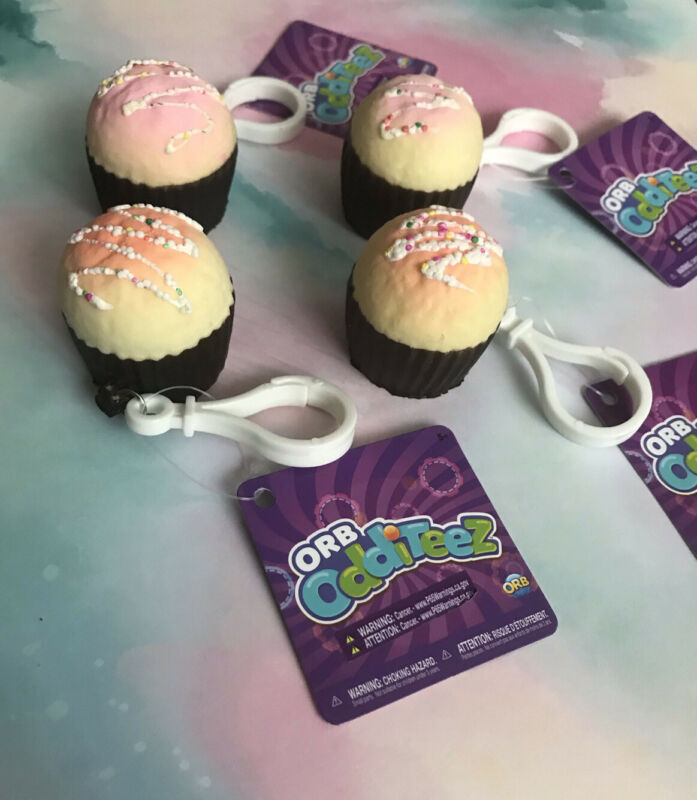"""Orb Odditeez Cupcake Icing with Sprinkles Squishy Keychain Backpack Pull 1.5"""""""
