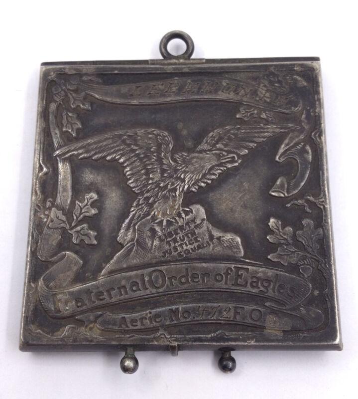 ALFRED SCHICKERLING -FRATERNAL ORDER OF EAGLES-STANP/CARD HOLDER- 925 (S291)