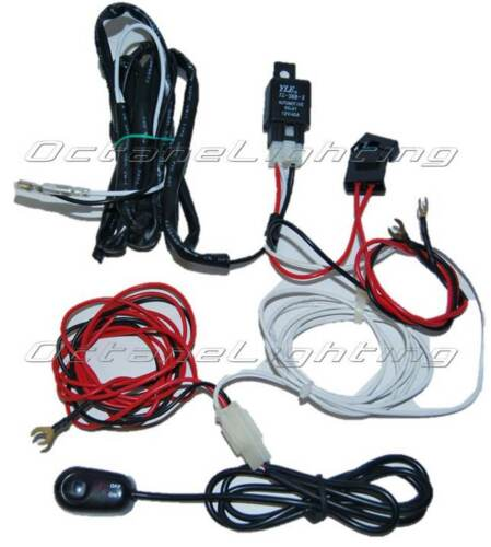 halo led eye daytime running lights relay wiring harness on switch kit ebay
