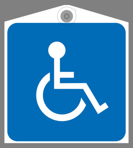 Two Handicap Disabled  Placard Holder Heavy Duty Removable Sign Impedido Card