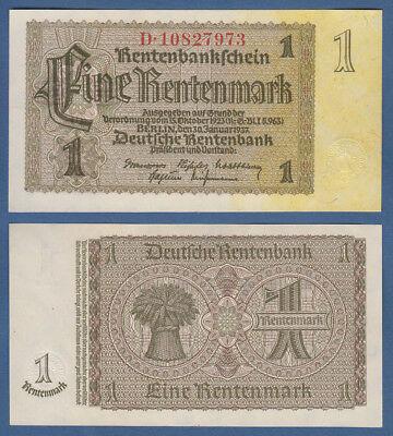 1 Rentenmark 1937 Firmendruck  KASSENFRISCH  Ro. 166 c