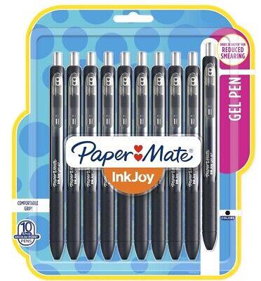 Papermate Inkjoy Gel Pens Medium Point Black 10 Count
