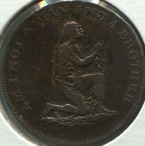 Conder - Middlesex 1/2 Penny - Political Series - SLAVE - D&H 1038a - Lot#EC1361