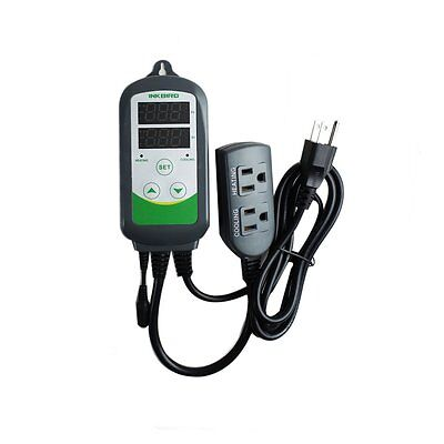 Pre-wired Aquarium Digital Temperature Controller Thermostat W Sensor Itc-308s
