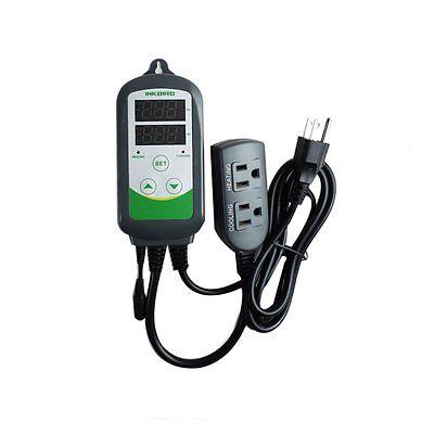 Pre-wired Aquarium Digital Heat Cool Temp Controller Thermostat Sensor Itc-308s