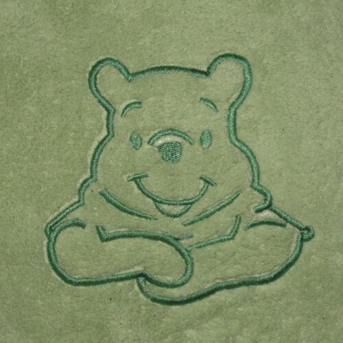 Winnie the Pooh Cushion Pillow Star Shaped Throw Green Disney Baby
