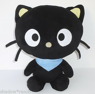 "Sanrio Fiesta CHOCOCAT Plush 15"" Black Stuffed Kitty Cat 2012 Hello Kitty Friend"